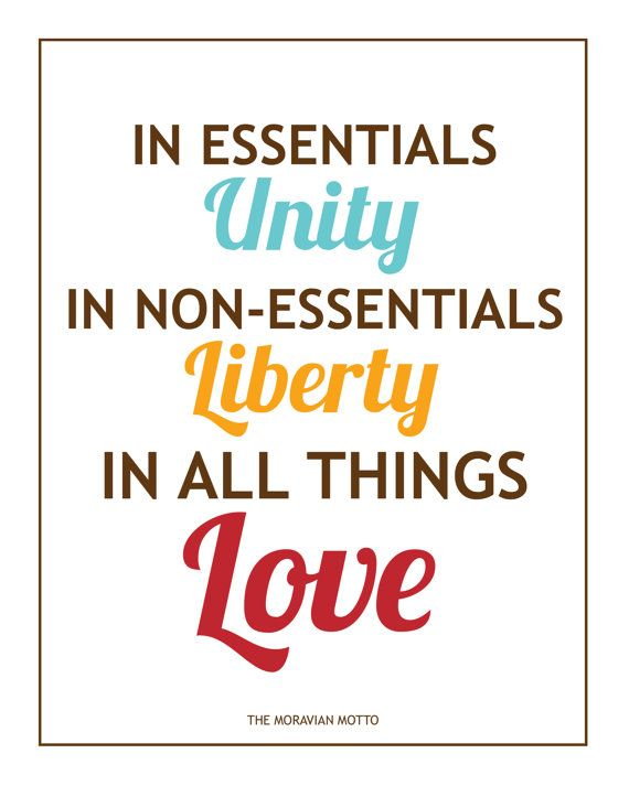 Moravian Motto